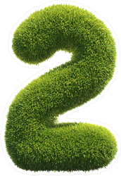 Grass Number Two Sticker