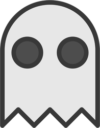 Gray Halloween Ghost Sticker