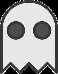 Gray Halloween Ghost Sticker