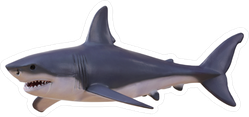 Grazing Great White Shark Sticker