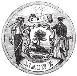 Great Seal Of The State Of Maine Sticker