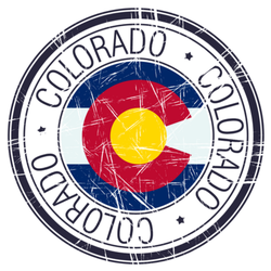 Great State Of Colorado Postal Stamp Sticker