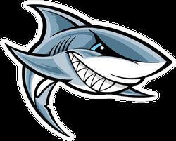 Great White Shark Mascot Sticker