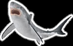 Great White Shark Swimming Up Sticker