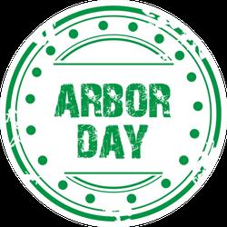 Green Arbor Day Stamp Sticker
