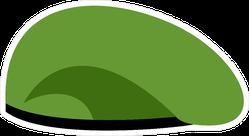 Green Beret Soldiers Cap Sticker