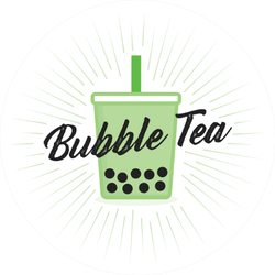 Green Bubble Tea Tapioca Boba Sticker