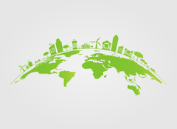 Green City On The Earth Sticker