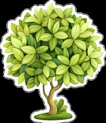 Green Decorative Little Tree Sticker