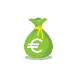 Green Euro Money Bag Sticker