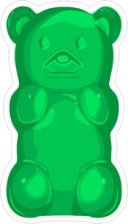 Green Gummy Bear Sticker