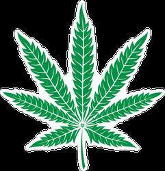 Green Leaf Of Marijuana Sticker