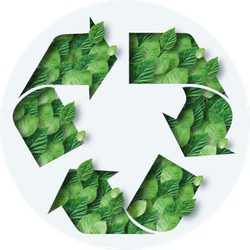 Green Leaves Recycling Icon Sticker