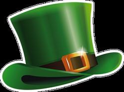 Green Leprechaun Hat Sticker
