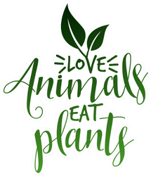 Green Love Animals Eat Plants Sticker