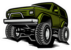 Green Off Road Vehicle Sticker