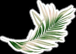 Green Palm Leaf Sticker
