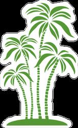 Green Palm Trees Sticker