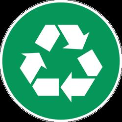 Green Recycling Circle Sticker