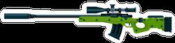 Green Sniper Rifle Sticker