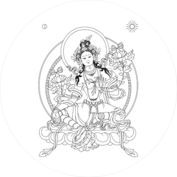 Green Tara Symbol Of The Tibetan Buddhism Sticker