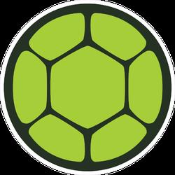 Green Turtle Shell Icon Sticker