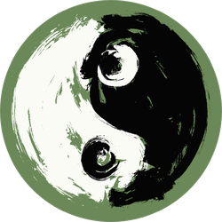 Green Yin & Yang Sticker