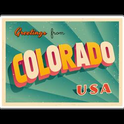 Greetings From Colorado Sticker