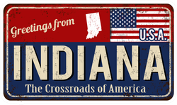 Greetings From Indiana Sticker