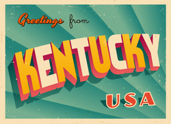 Greetings From Kentucky Sticker