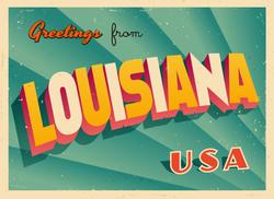 Greetings From Louisiana Sticker