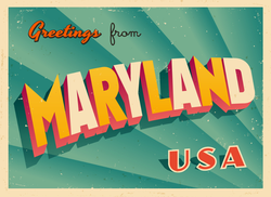 Greetings From Maryland Sticker