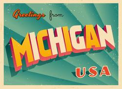 Greetings From Michigan Sticker