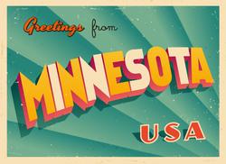 Greetings From Minnesota Sticker