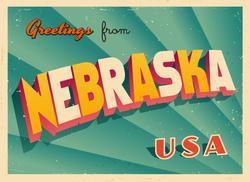 Greetings From Nebraska Sticker