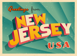 Greetings From New Jersey Sticker