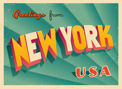 Greetings From New York Sticker
