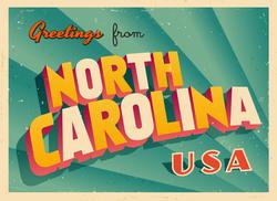 Greetings From North Carolina Sticker