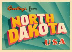 Greetings From North Dakota Sticker