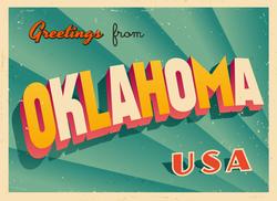 Greetings From Oklahoma Sticker