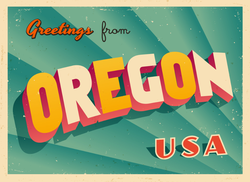Greetings From Oregon Sticker