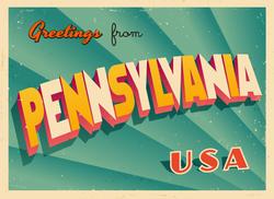 Greetings From Pennsylvania Sticker
