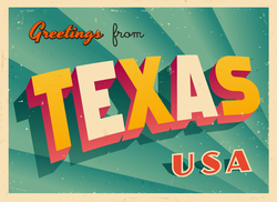 Greetings From Texas Sticker