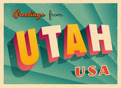 Greetings From Utah Sticker