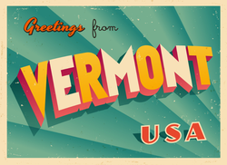 Greetings From Vermont Sticker
