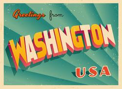 Greetings From Washington Sticker