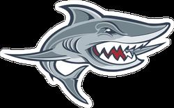 Grey Shark Sports Mascot Sticker