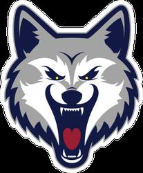 Grey Wolf Head Mascot Sticker