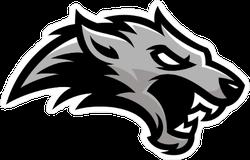 Grey Wolf Mascot Sticker