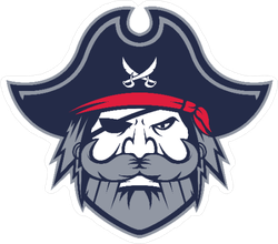 Greybeard Pirate Head Mascot Sticker